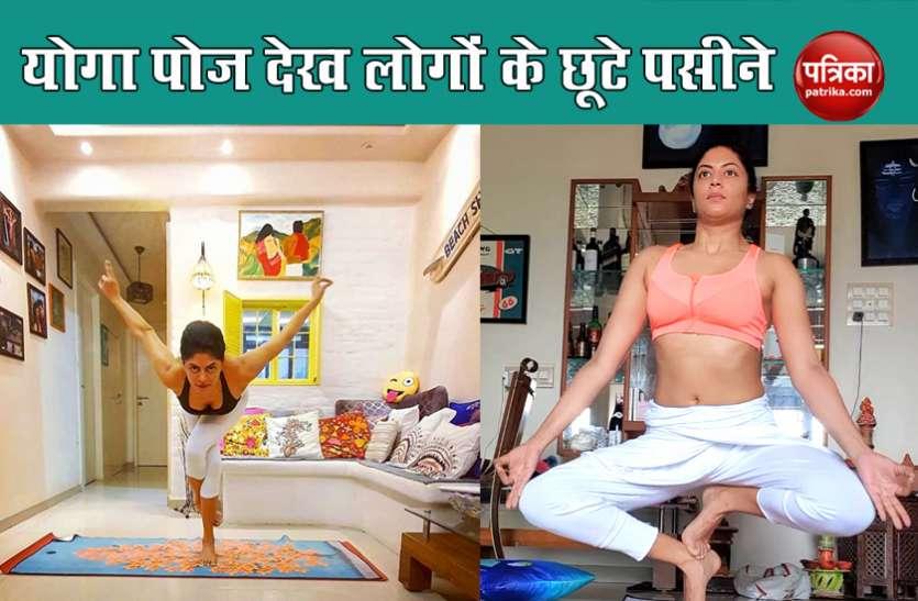 FIR शो की एक्ट्रेस Kavita Kaushik फिट रहने के लिए करती हैं योगासन, चक्रासन करते हुए चौंकाया लोगों को