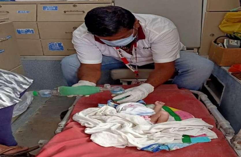 गंभीर हालत में पहुंचे शिशु को समय रहते पहुंचाया अस्पताल
