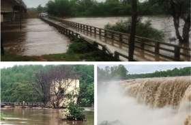 बारिश से हसदेव नदी में आई बाढ़, पुल पर पानी भरने से एनएच जाम, इंटकवेल में 10 घंटे फंसा रहा कर्मचारी