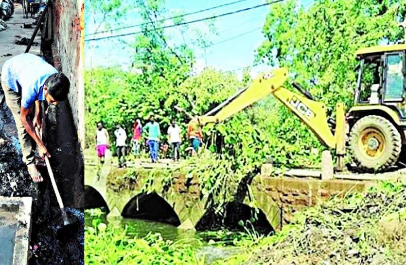 नाला-नालियों को बारिश में जाम से बचाने पहले चरण में पूरा हुआ सफाई अभियान