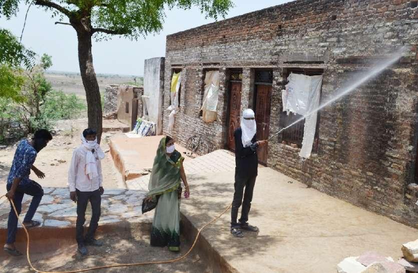 कोरोना पॉजिटिव मिलने का मामला, पूरे गांव की कराई गई स्क्रीनिंग