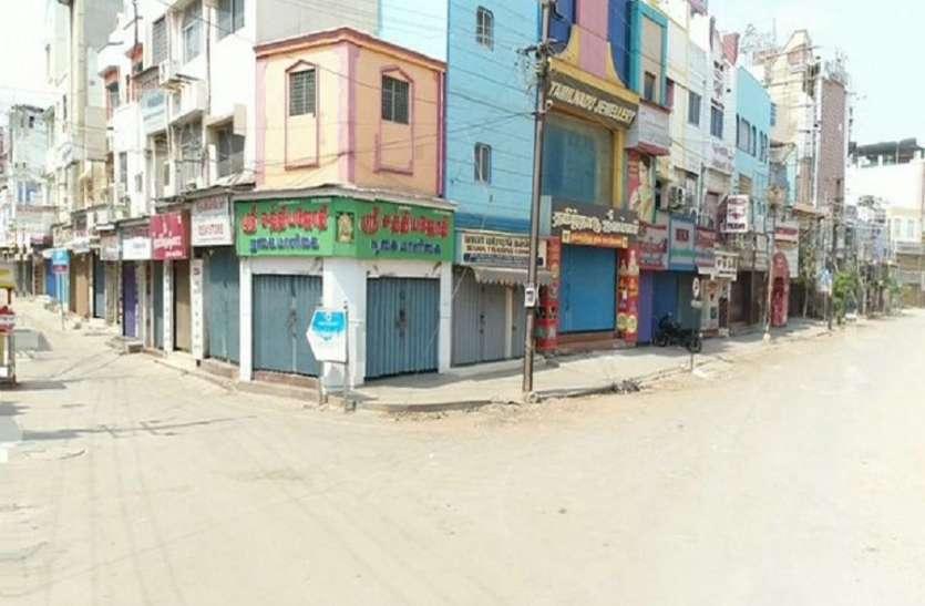 सम्पूर्ण लॉकडाउन में थमा मदुरै, दुकानें बंद, सुनसान रहे बाजार