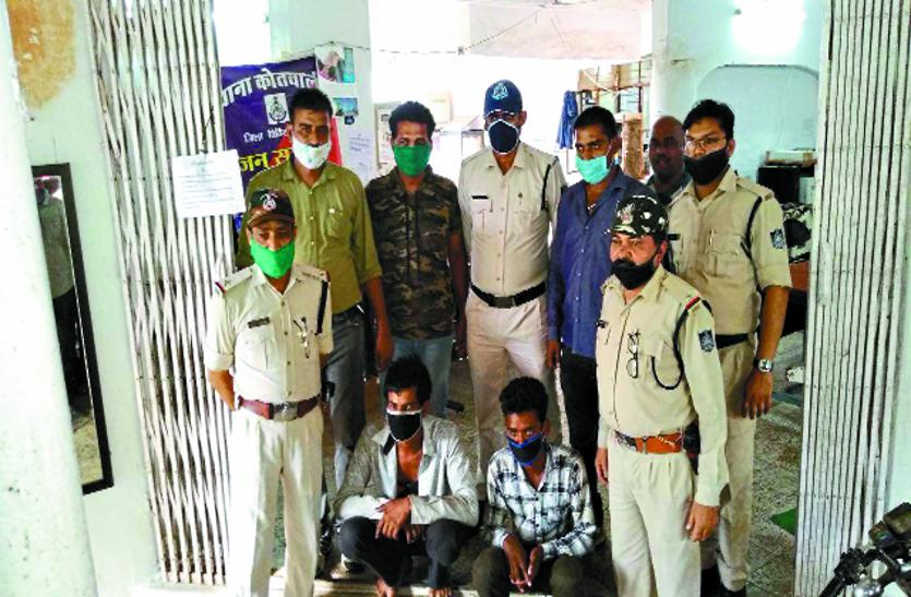 लगभग 1100 किमी तक पुलिस को चकमा देते रहे आरोपी,25 लाख का माल हुआ बरामद