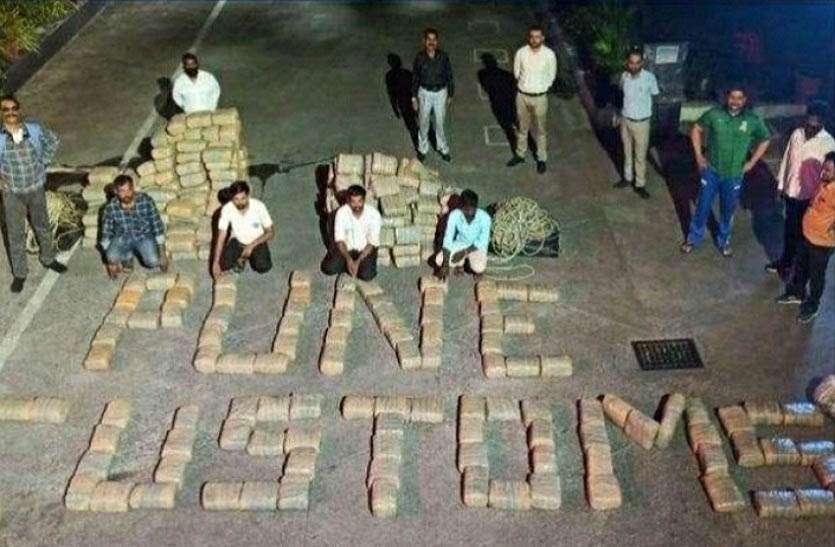 दो करोड़ का गांजा एवं चरस पकड़ी, चार आरोपी गिरफ्तार