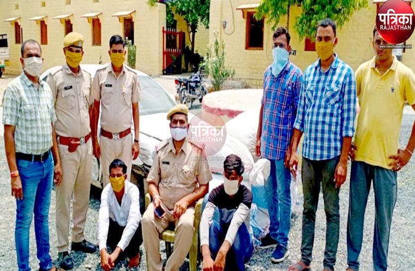 छह लाख रुपए का डोडा पोस्त बरामद, दो आरोपी गिरफ्तार