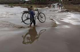 राजस्थान में यहां 2 घंटे तक बारिश, नदी-नाले आए उफान पर