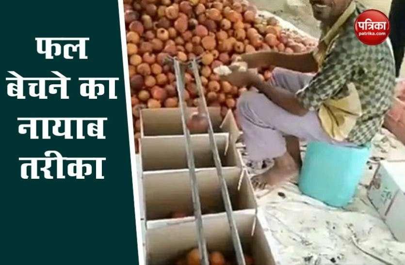 शख्स ने फल बेचने का निकाला नायाब तरीका, लोग बोले- 'वाह क्या जुगाड़ है', देखे Video