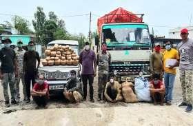 CG-एमपी बॉर्डर पर दो गाडिय़ों से 135 किलो गांजा जब्त, अंतरराज्यीय गिरोह के चार सदस्य चढ़े पुलिस के हत्थे