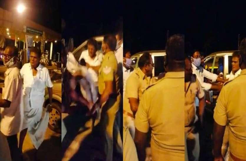 ई-पास मांगने पर पूर्व सांसद ने पुलिसकर्मी को मारी लात, दी गालियां, वीडियो वायरल