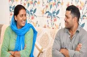 PICS: जब 'पोलो खिलाड़ी' मंत्री Ashok Chandana पहुंचे 'डिस्कस थ्रो खिलाड़ी' विधायक Krishna Poonia के घर
