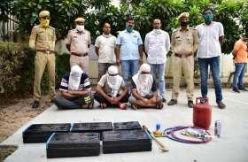 जयपुर में एटीएम लुटेरे पकड़े, मेवात गिरोह की मदद से की थी वारदात