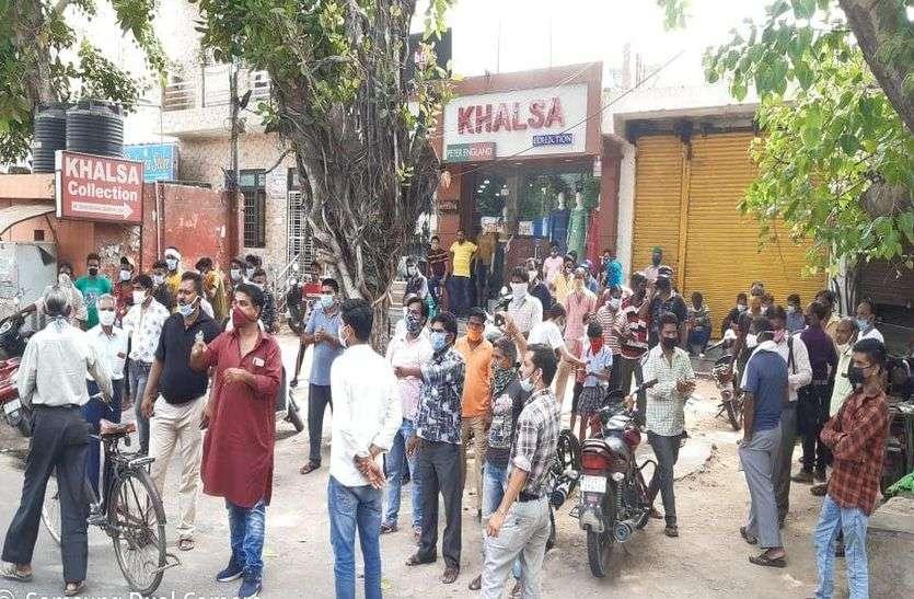 मधुशाला पर रार-नगरा क्षेत्र में शराब के ठेके का विरोध