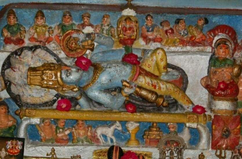 देवशयनी एकादशी आज: बैसनगर में है डेढ़ हजार वर्ष प्राचीन भगवान विष्णु की शयन मुद्रा प्रतिमा