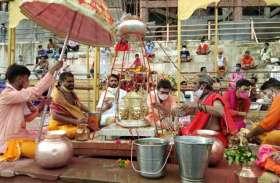 श्रावण के पहले सोमवार निकाली भगवान ओंकारनाथ की सवारी