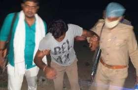 कानपुर घटना के बाद एक्शन में आई फिरोजाबाद पुलिस ने मुठभेड में पकड़े दो बदमाश, दरोगा घायल