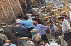 कानपुर की घटना के बाद गैंगस्टर की संपत्ति जब्त करने गई पुलिस का विराेध
