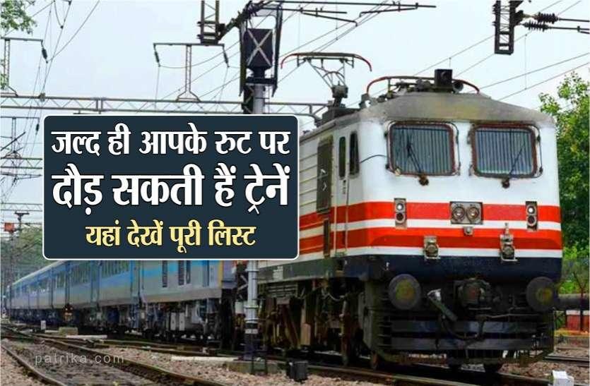रेलवे कर रहा है तैयारी, इन रुटों पर जल्द दौड़ सकती हैं ट्रेनें, यहां देखें पूरी लिस्ट