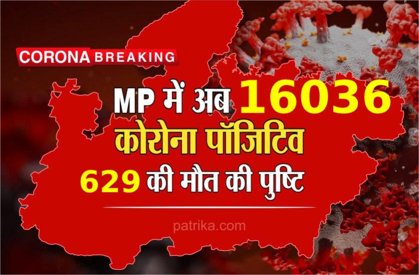 MP Corona Update : मध्य प्रदेश में कोरोना संक्रमित मरीजों की संख्या हुई 16036, अब तक 629 ने गवाई जान