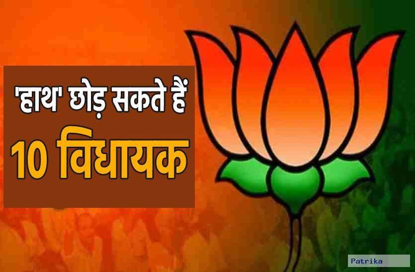 बीजेपी के संपर्क में कांग्रेस के 10 और विधायक, बदल सकते है पार्टी