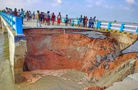 Video: पुल टूटने से पानी में बहे करोड़ों रुपए, विपक्ष हुआ हमलावर