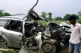 ट्रक से टकराकर बर्थडे पार्टी कर लौट रहे एक्सयूवी सवार दो युवकों की मौत, दो घायल