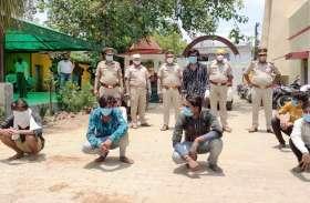 नंबर प्लेट बदलकर देते थे लूट की वारदात को अंजाम, पुलिस ने दबोचे अंतरजनपदीय गिरोह के सात बदमाश
