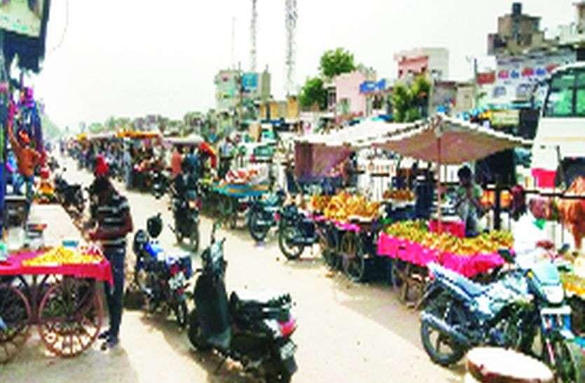 जयपुर-आगरा राष्ट्रीय राजमार्ग: सर्विसलेन पर अतिक्रमण
