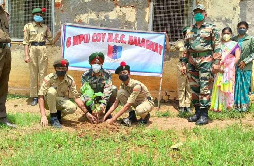 एनसीसी कैडेटस ने लगाए पौधे, पर्यावरण बचाने का दिया संदेश