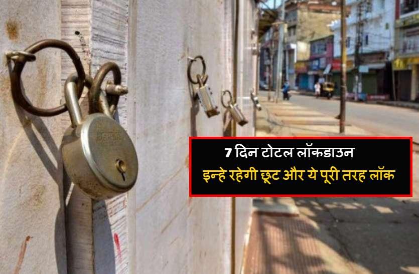 रायपुर और बिरगांव शहर में 7 दिन टोटल लॉकडाउन, सिर्फ इन्हें रहेगी छूट और ये पूरी तरह लॉक