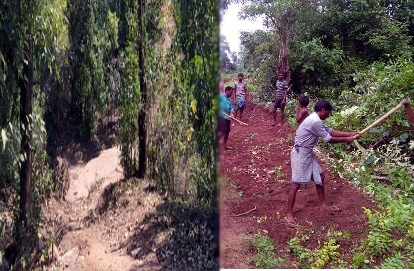 प्रशासन ने नहीं सुनी तो ग्रामीणों ने किया कमाल, खुद ही बना दी 2 किलोमीटर लंबी सड़क