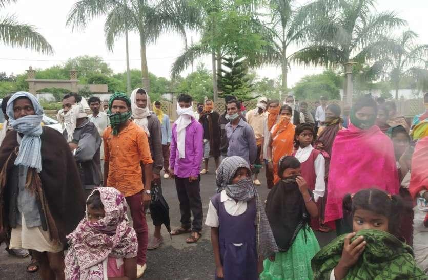 वनाधिकार पट्टा और धान की फसल को नुकसान नहीं पहुंचाने की मांग लिए कलेक्ट्रेट पहुंचे बैगा परिवार