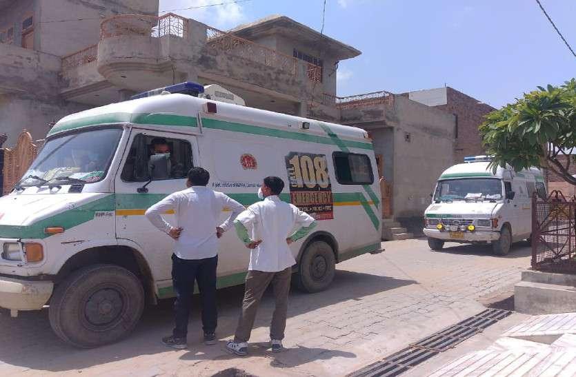 कोरोना पॉजिटिव वाले इलाकों में पहुंचे चिकित्सा विभाग के दल