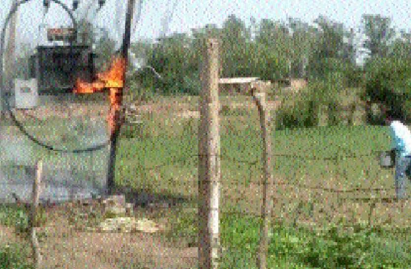विद्युत लाइन में शॉर्ट सर्किट से ट्रांसफार्मर में लगी आग