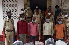 ट्रक कंटिग और चोरी की वारदात को अंजाम देने वाले चार गिरफ्तार
