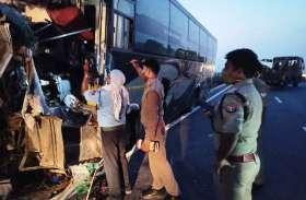 फिरोजाबाद में एक्सप्रेस वे पर डिवाइडर से टकराई यात्रियों से भरी वोल्वो बस, एक मौत दो दर्जन घायल
