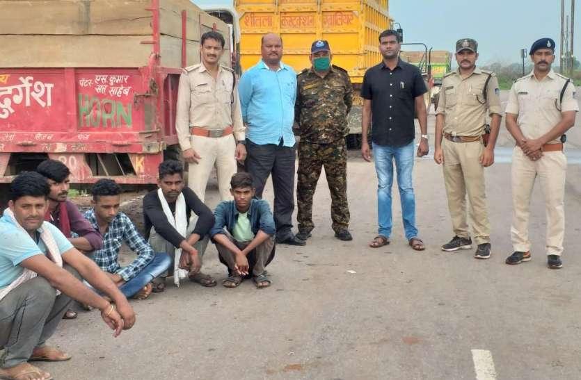 अवैध रेत परिवहन के खिलाफ पुलिस की बड़ी कार्रवाई