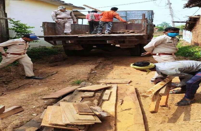 वन विभाग ने 201 नग कीमती लकड़ी के अवैध चिरान किए जप्त