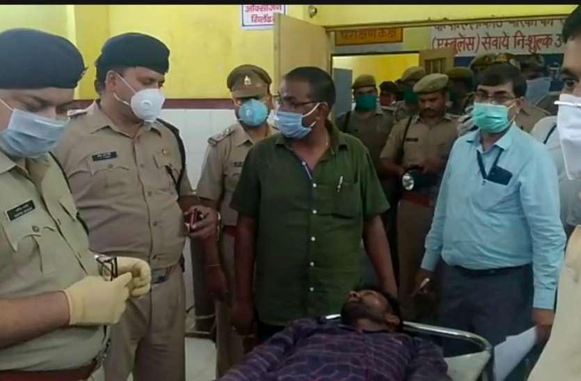 रायबरेली में बाइक सवार बदमाशों और पुलिस के बीच हुई मुठभेड़, एक पुलिस कर्मी और बदमाश घायल, एसपी पहुंचे जिला अस्पताल घायल से की पूछताछ
