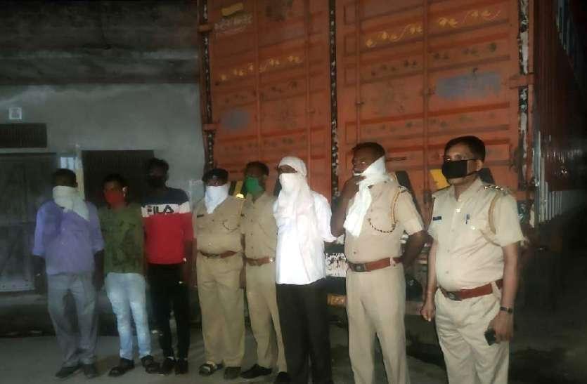 शराब से भरा ट्रक जब्त, करीब 40 लाख रुपए की भरी थी शराब