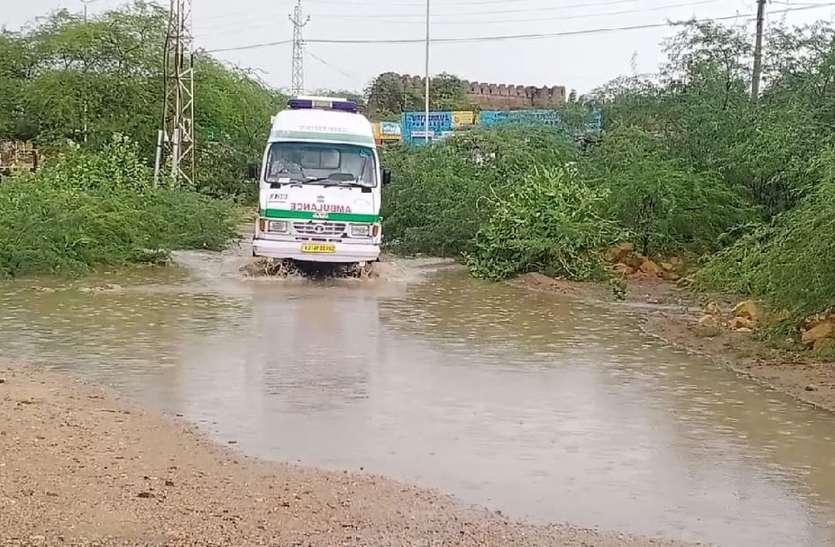 राजमथाई क्षेत्र में तेज बारिश, उमस से हुआ हर कोई बेहाल