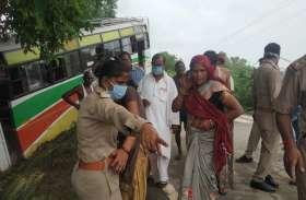 सवारियों से भरी बस हुई दुर्घटनाग्रस्त, मच गई चीख पुकार, तीन लोग हुए घायल