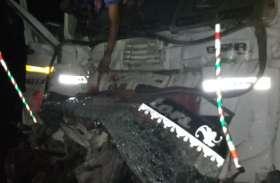 खड़े ट्रकों में पीछे से मारी टक्कर, चालक की मौत