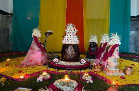 शंकर रम रियो पहाड़ा में... शिवशंकर की सजाई झांकी