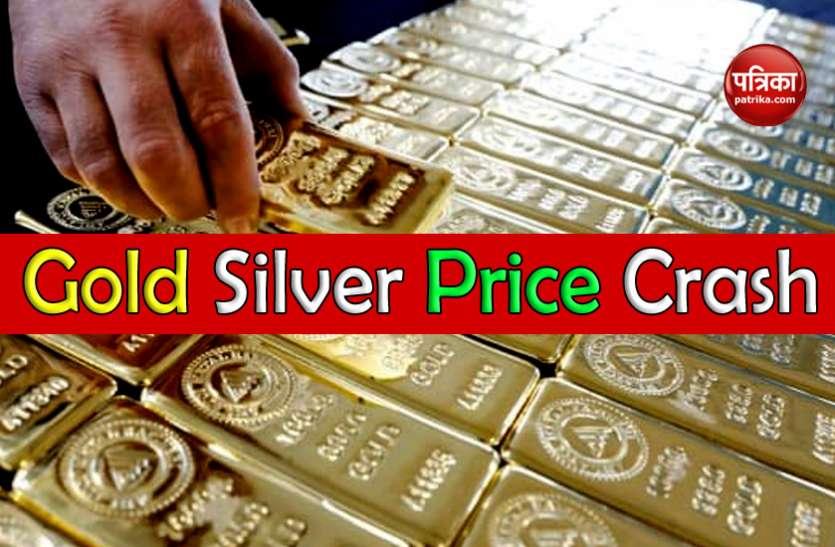Gold And Silver Price Crash : चार दिनों में 17 हजार सस्ती हुई चांदी, सोना 6200 रुपए नीचे