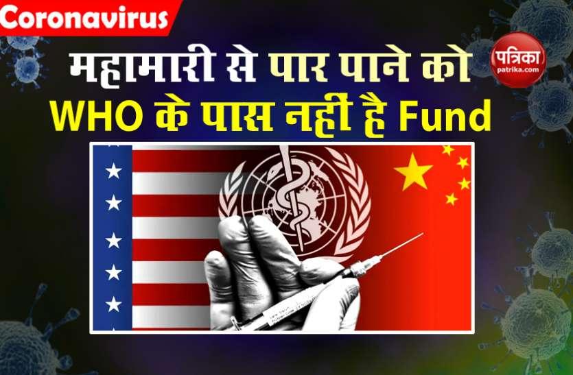 Coronavirus से जंग जीतने के लिए दुनिया के इस बड़े संगठन के पास भी नहीं हैं फंड!