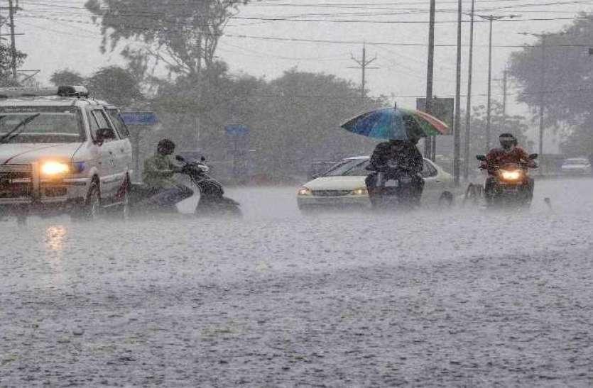 जयपुर के बाद राजस्थान में यहां हो रही बारिश, जमकर बरस रहे मेघ, बांध होने लगे लबालब