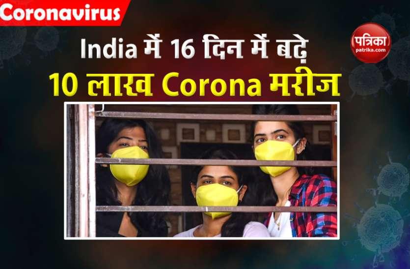 भारत में Corona मरीज 30 लाख के करीब, 16 दिन में सामने आए 10 लाख नए मामले
