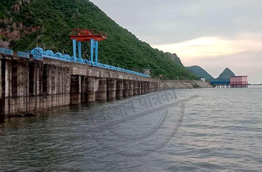 बीसलपुर बांध का 312.98 आरएल व त्रिवेणी का गेज 1.25 मीटर