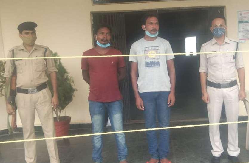 डीजल चोर गिरोह के 2 सदस्य गिरफ्तार, एनएच पर खड़े ट्रकों से करते थे डीजल की चोरी