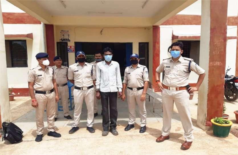 गांजा बेचते हुए आरोपी गिरफ्तार,एनडीपीएस एक्ट के तहत की गई कार्रवाई